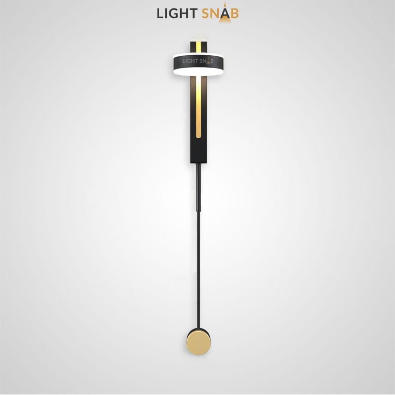Настенный светодиодный светильник Denzil Color цвет черный