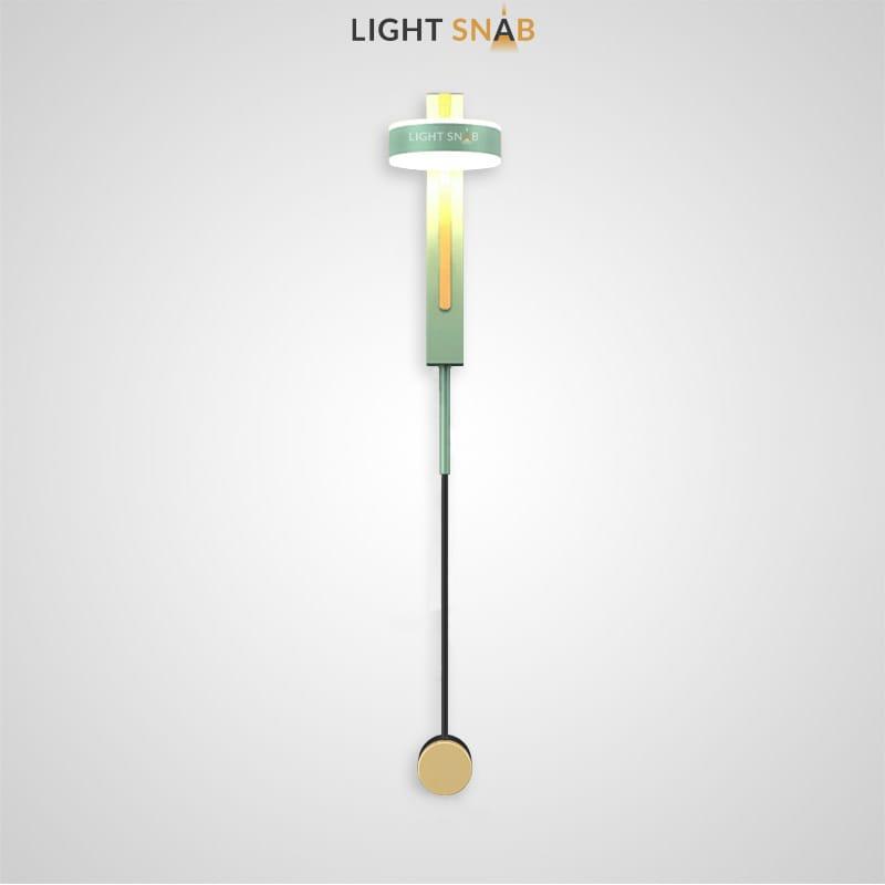 Настенный светодиодный светильник Denzil Color цвет зеленый