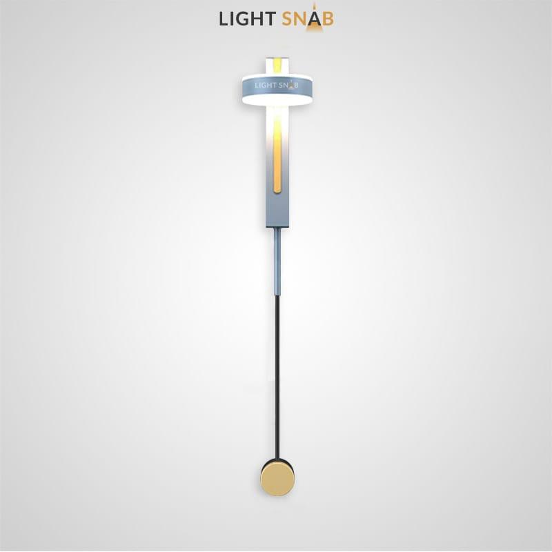 Настенный светодиодный светильник Denzil Color цвет серый