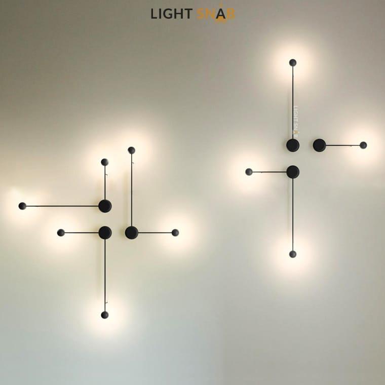 Светодиодное бра Dots Slim с разными комбинациями и размерами