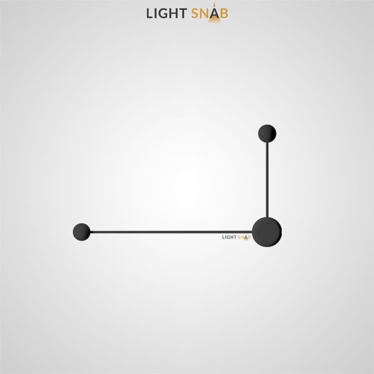 Светодиодное бра Dots Slim размер L цвет черный
