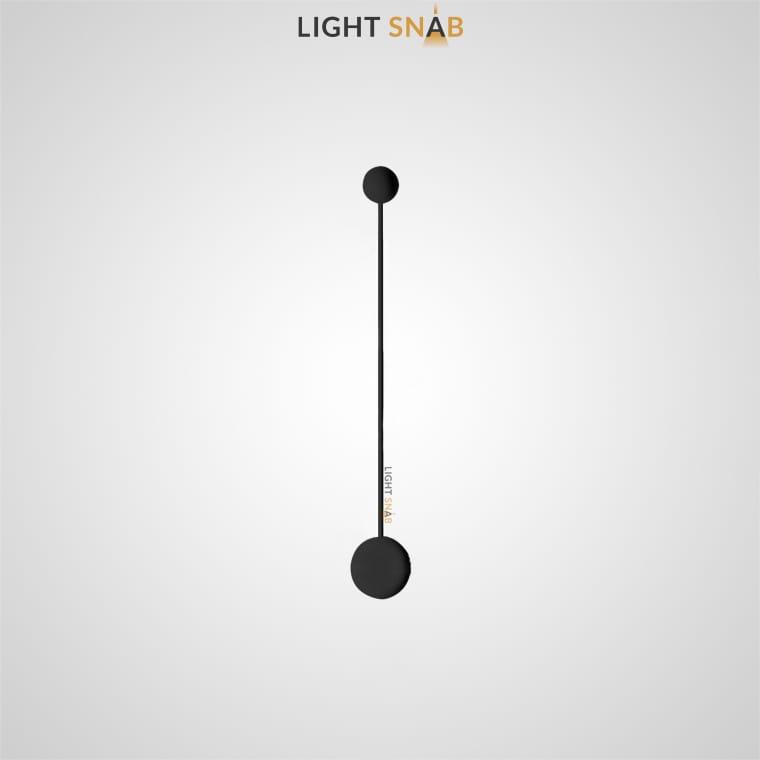 Светодиодное бра Dots Slim размер M цвет черный