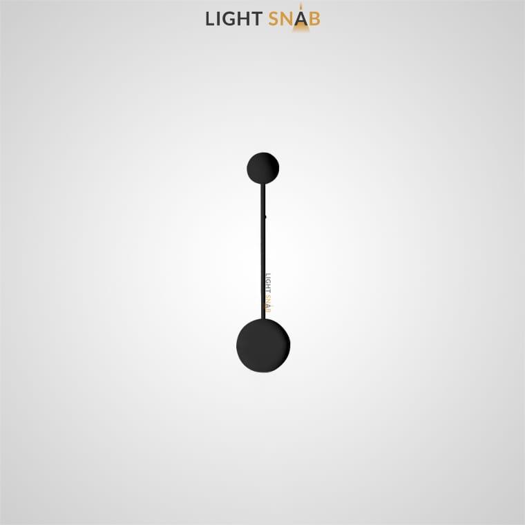 Светодиодное бра Dots Slim размер S цвет черный