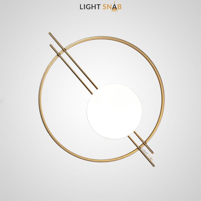 Настенный светильник Esta в виде шарообразного матового плафона в кольцевом каркасе