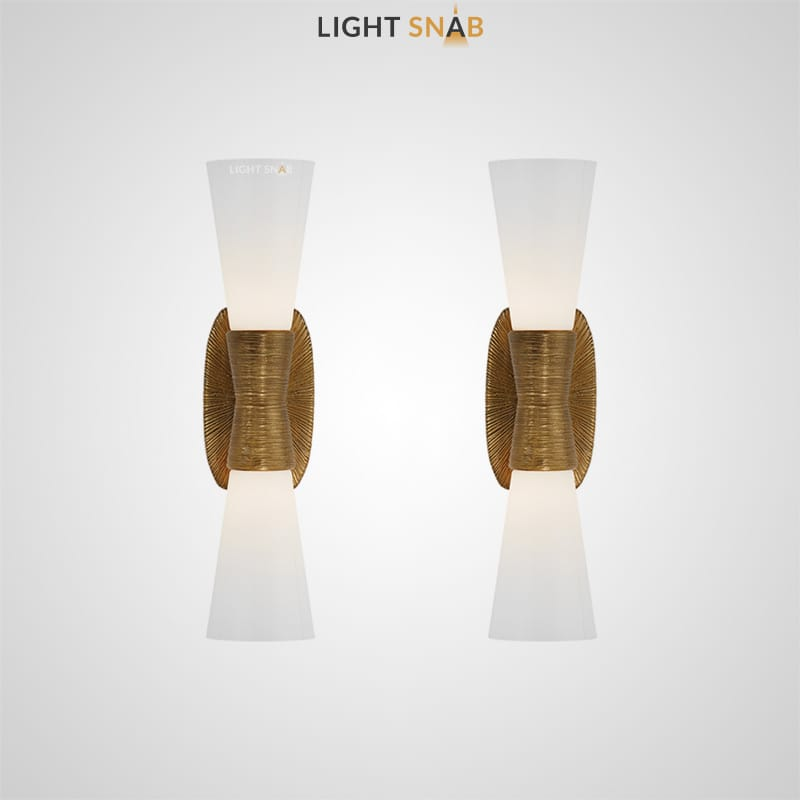 Дизайнерский настенный светильник Glade с матовым конусообразным плафоном
