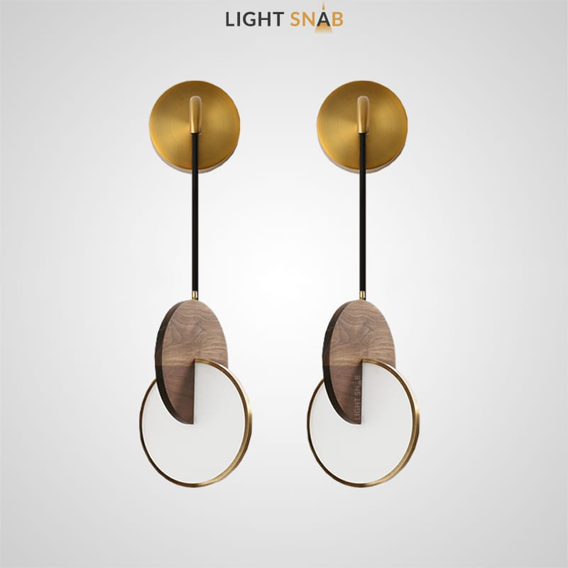 Настенный светодиодный светильник Glatt Wood Wall из пересекающихся дисков