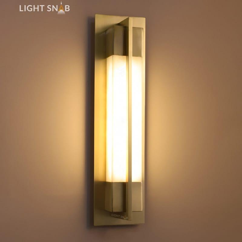 Настенный светодиодный светильник Glee C размер M цвет латунь
