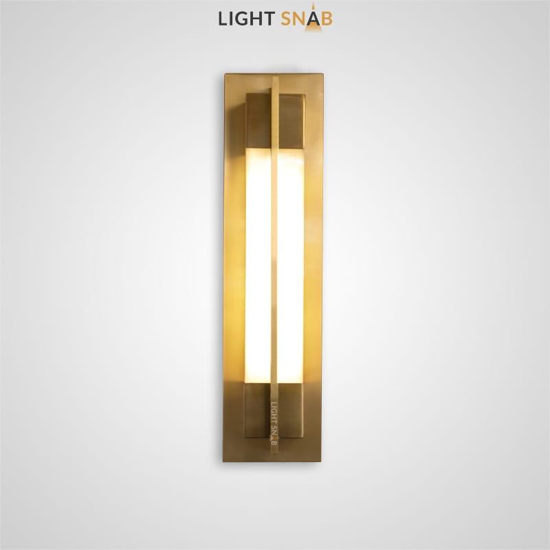 Настенный светодиодный светильник Glee C размер S цвет латунь