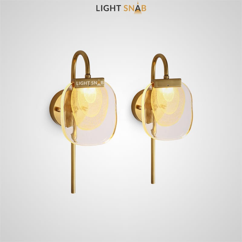 Настенный светодиодный светильник Helina Wall с плоским прозрачным плафоном из стекла