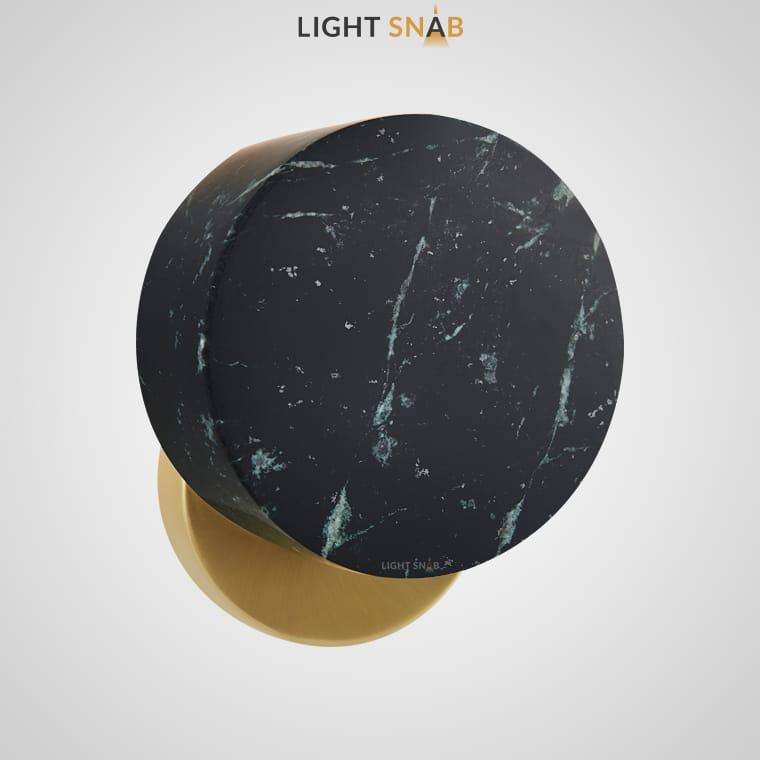 Настенный светильник Jord цвет зеленый мрамор