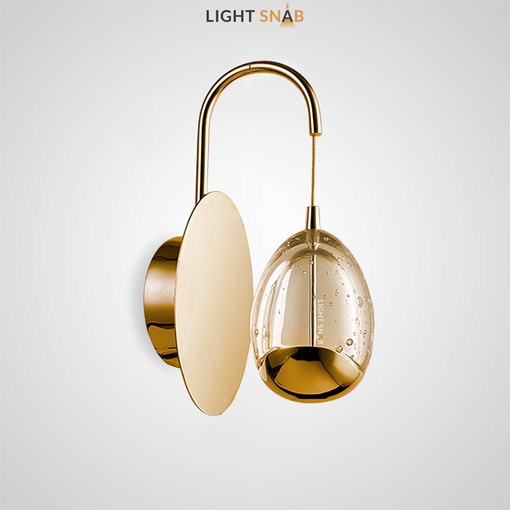 Настенный светодиодный светильник Lenita Wall цвет золото