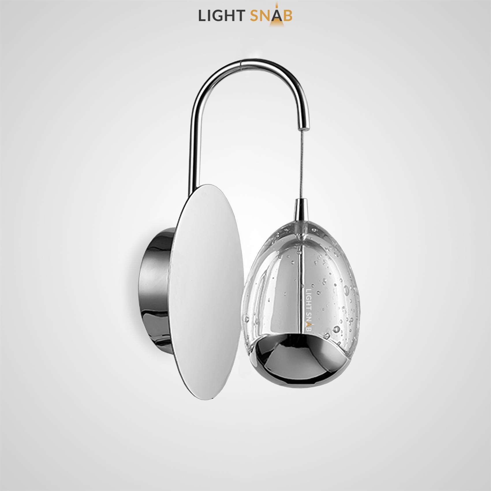 Настенный светодиодный светильник Lenita Wall цвет хром