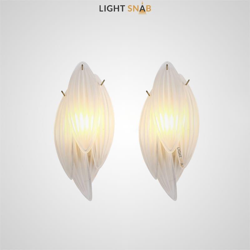 Настенный светодиодный светильник Lissa в виде композиции из стеклянных лепестков