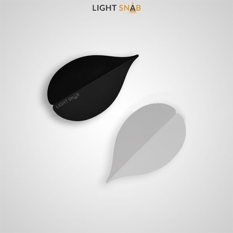 Настенный светодиодный светильник Lissen в виде металлического листка