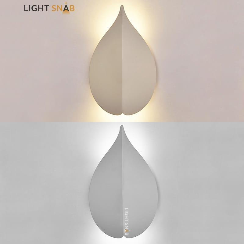 Настенный светодиодный светильник Lissen размер S цвет белый свет теплый
