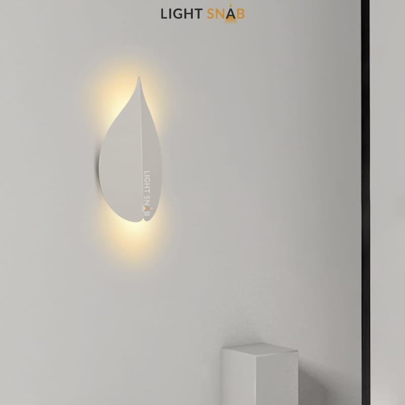 Настенный светодиодный светильник Lissen размер M цвет белый свет теплый