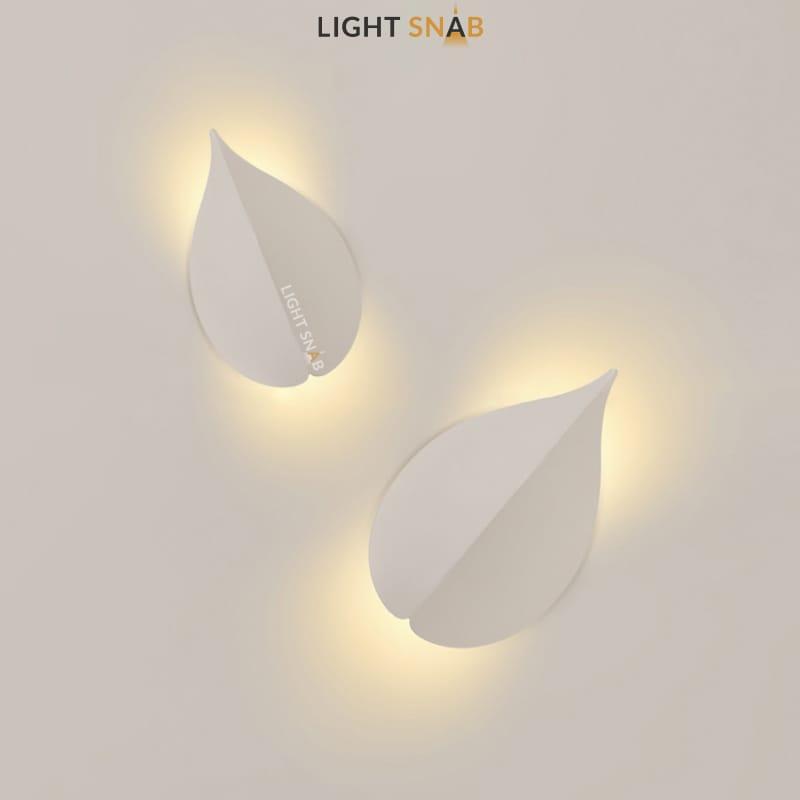 Настенный светодиодный светильник Lissen размер M цвет белый свет трехцветный