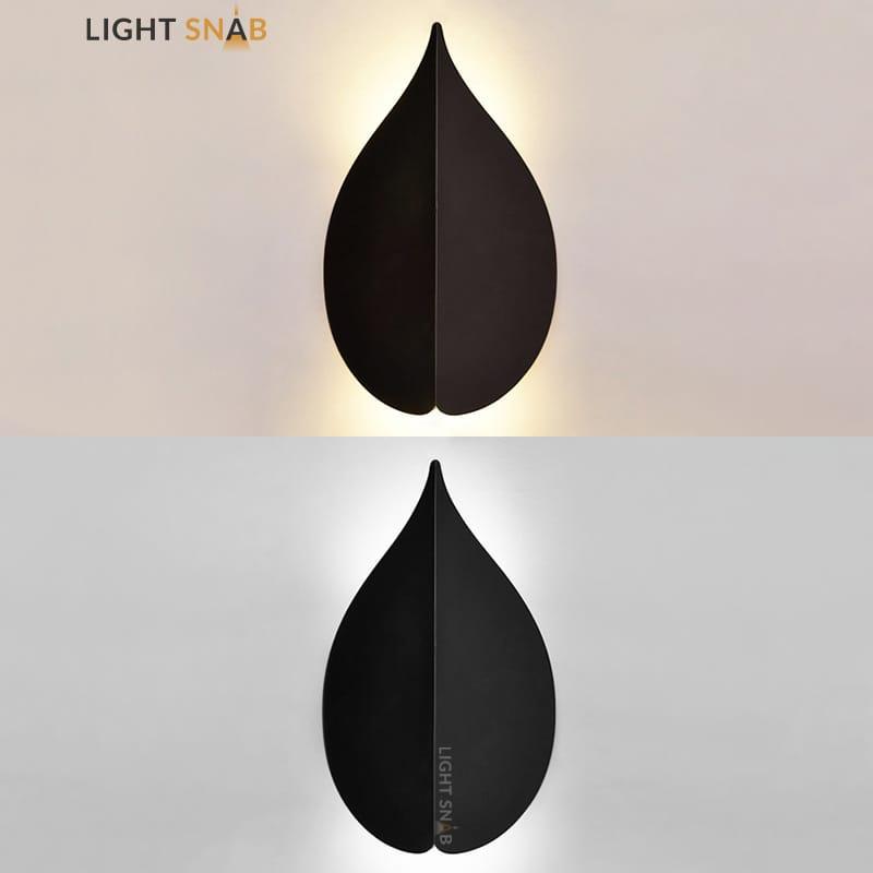 Настенный светодиодный светильник Lissen размер S цвет черный свет белый