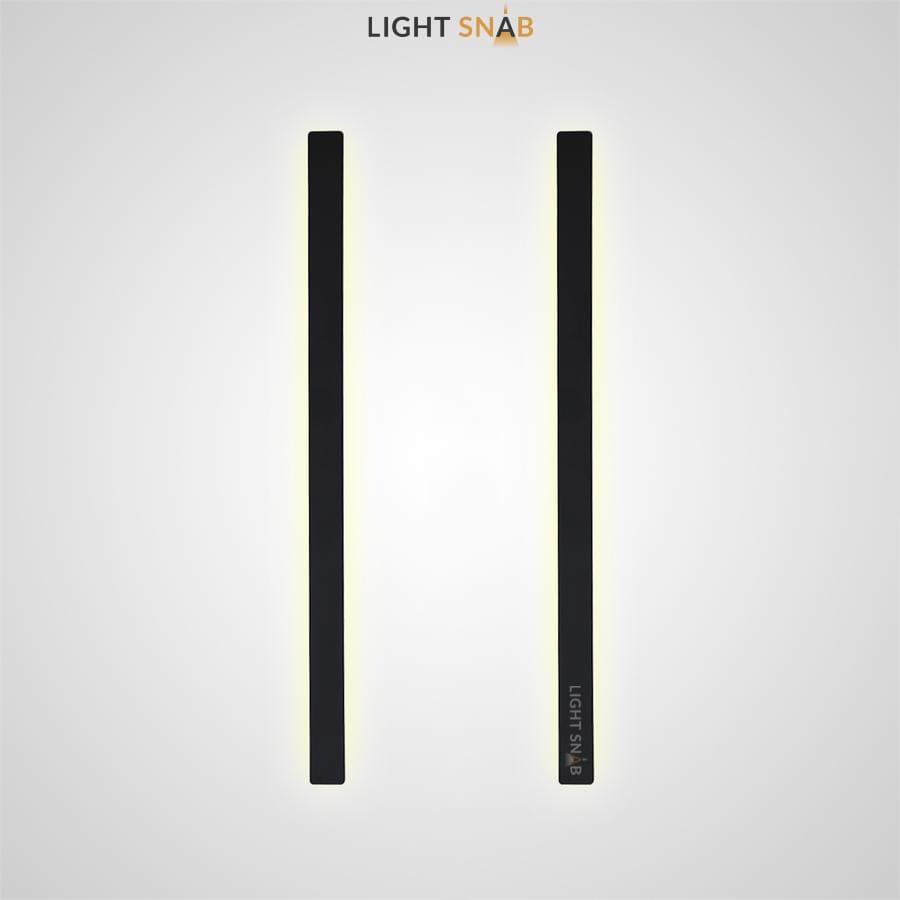 Настенный светодиодный светильник Live в виде черной стойки с регулированием угла освещения
