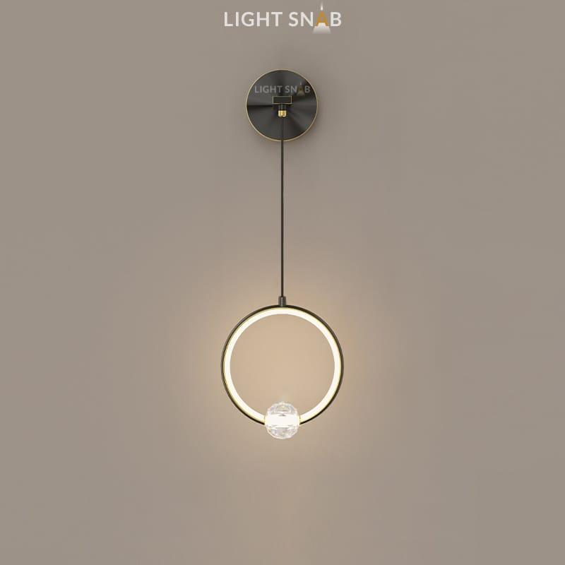 Настенный светодиодный светильник Luana Wall цвет черный свет теплый