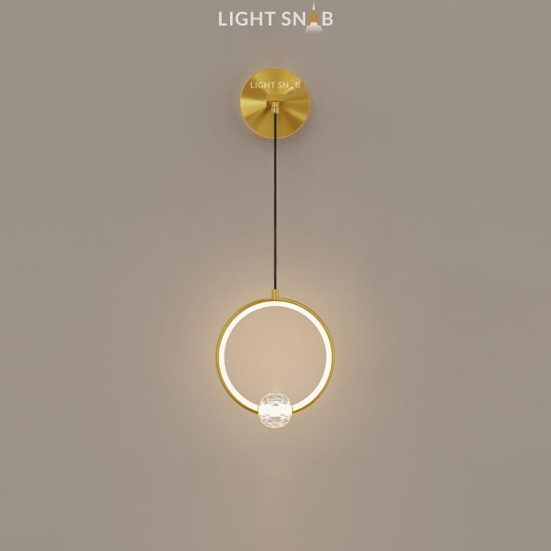 Настенный светодиодный светильник Luana Wall цвет латунь свет теплый