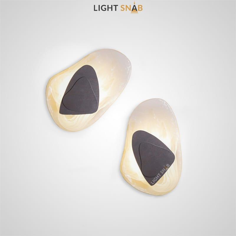 Настенный светодиодный светильник Mint с плафоном из стекла произвольной формы и металлическим центром