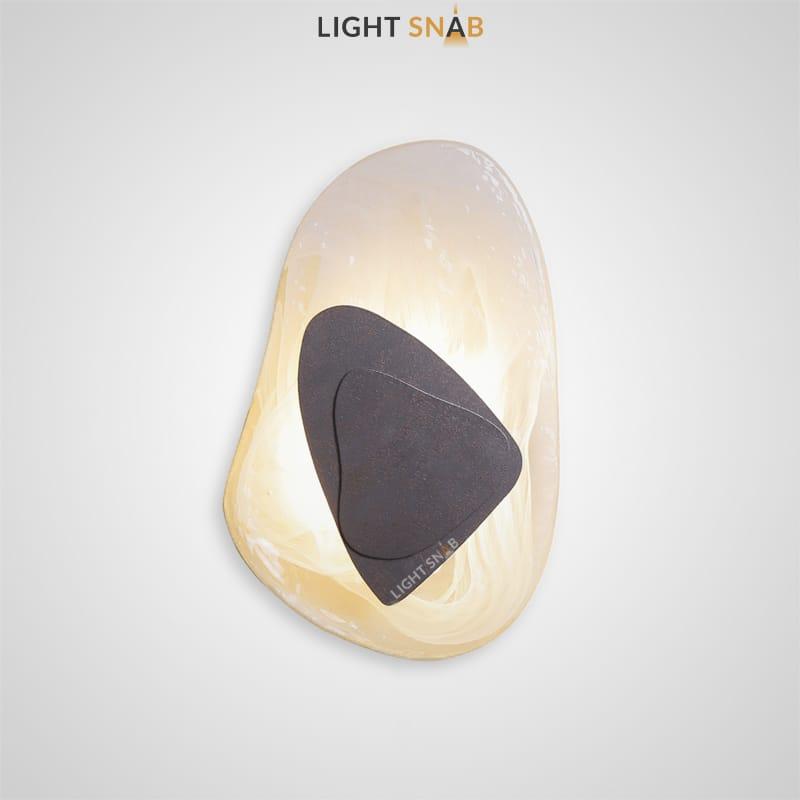 Настенный светодиодный светильник Mint цвет черный свет трехцветный