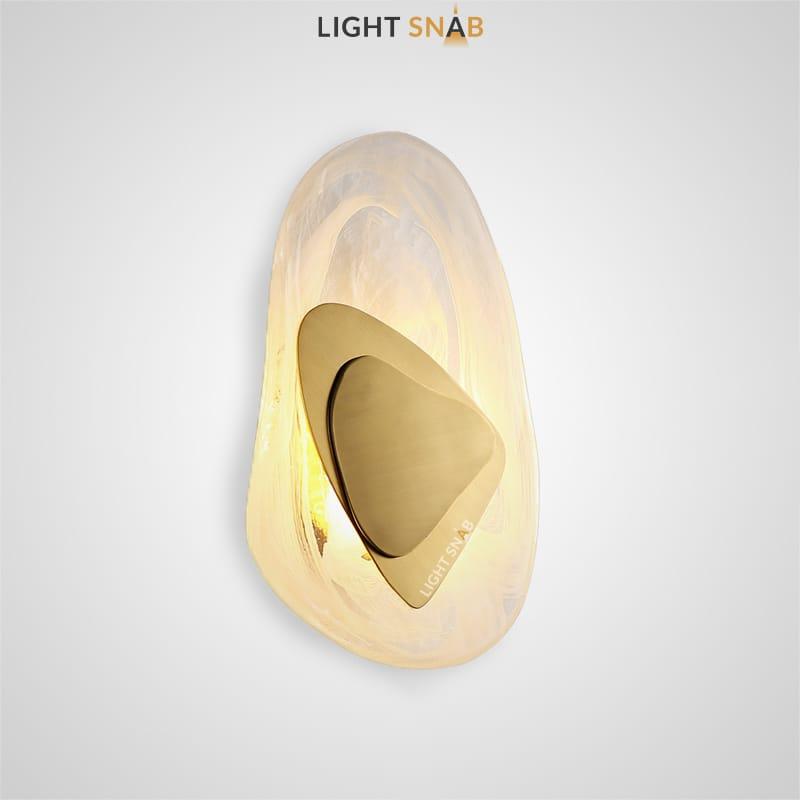 Настенный светодиодный светильник Mint цвет золото свет белый