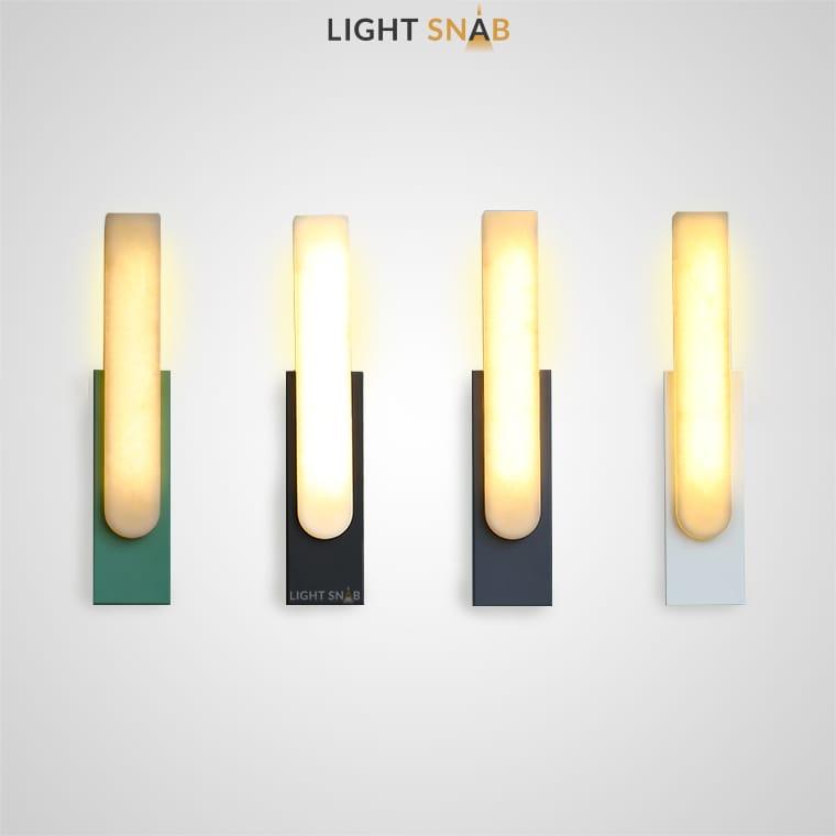 Светодиодный настенный светильник Mirca из мрамора