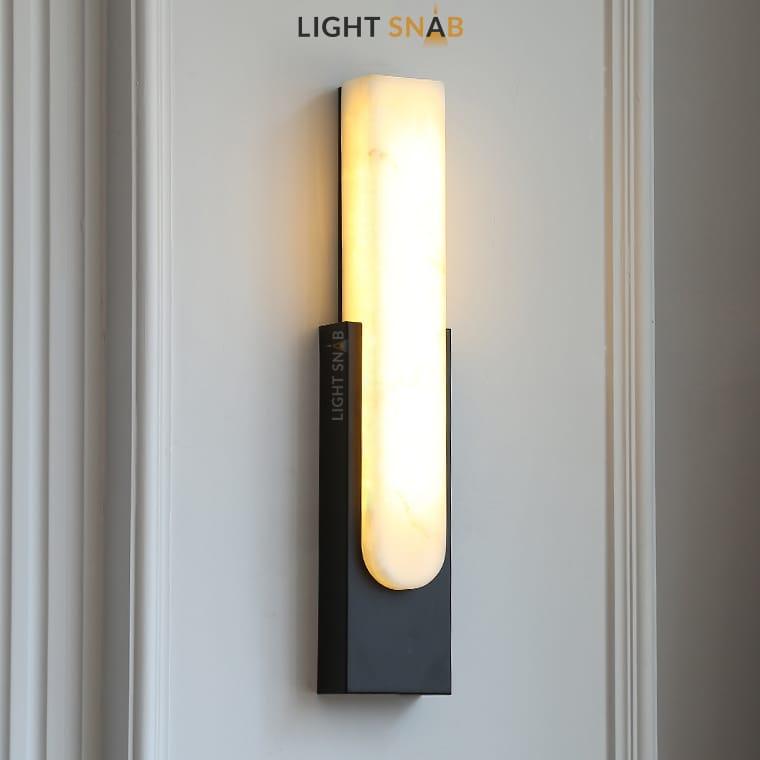 Светодиодный настенный светильник Mirca цвет черный