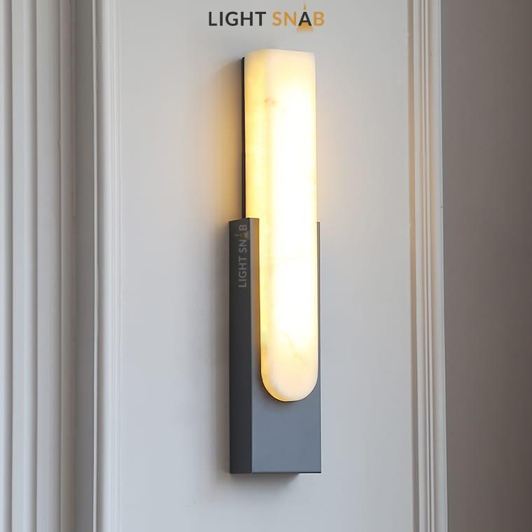 Светодиодный настенный светильник Mirca цвет серый