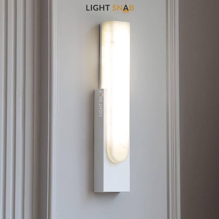 Светодиодный настенный светильник Mirca цвет белый