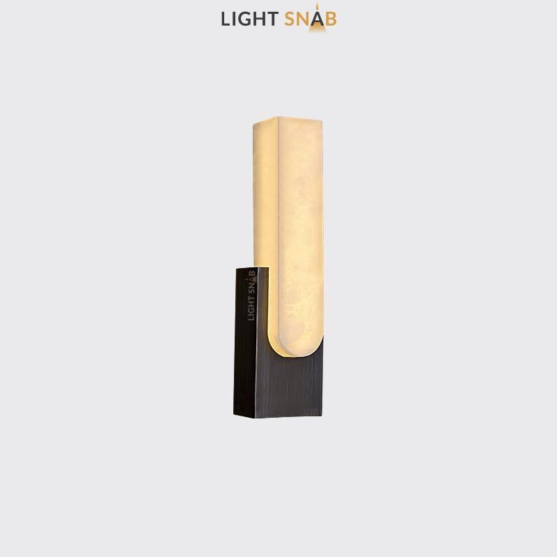 Настенный светодиодный светильник Mirca B цвет черный