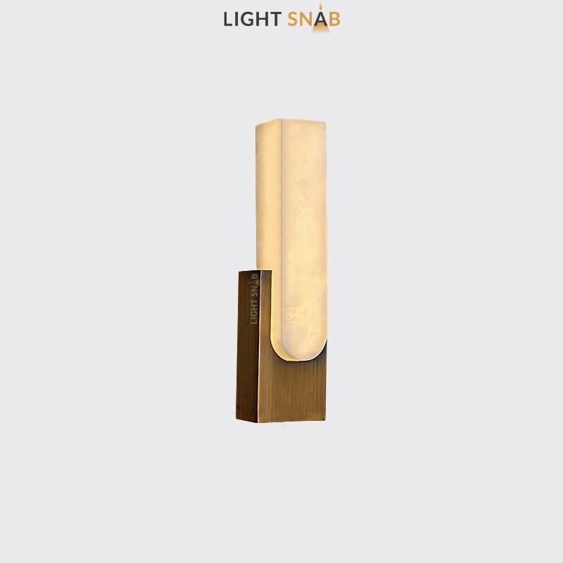 Настенный светодиодный светильник Mirca B цвет бронза