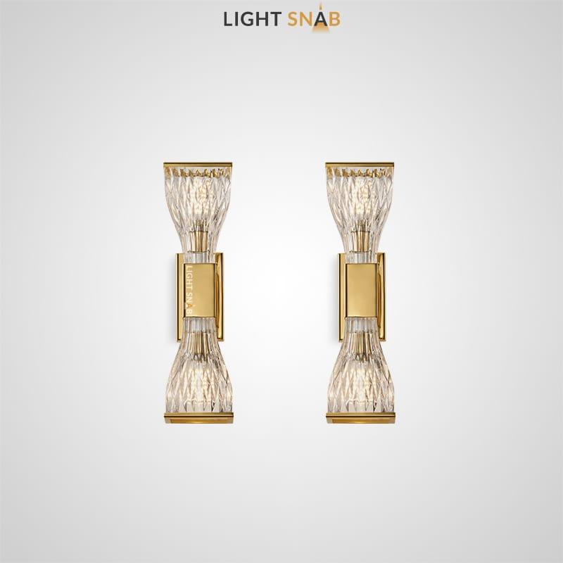 Настенный светильник Nica в форме кристальных песочных часов