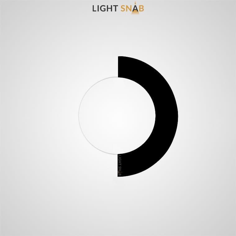 Настенный светодиодный светильник Orsa цвет черный