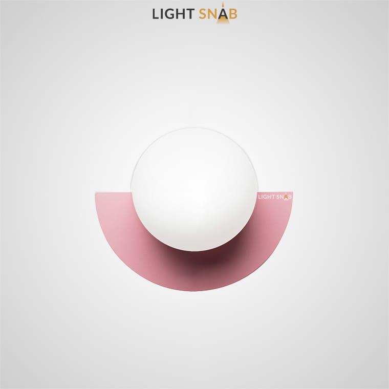 Настенный светодиодный светильник Orsa цвет розовый