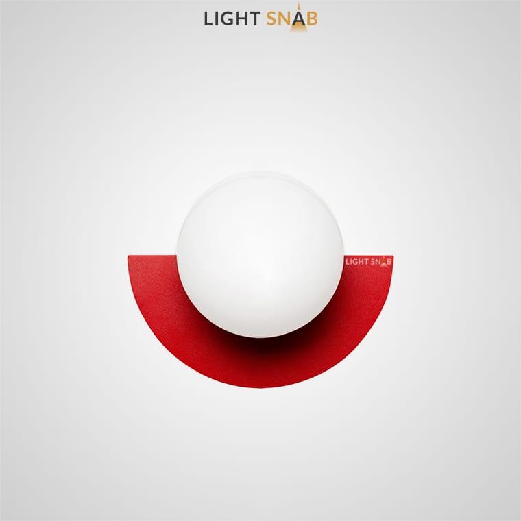 Настенный светодиодный светильник Orsa цвет красный