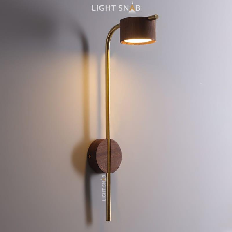Настенный светодиодный светильник Patsy размер M темное дерево