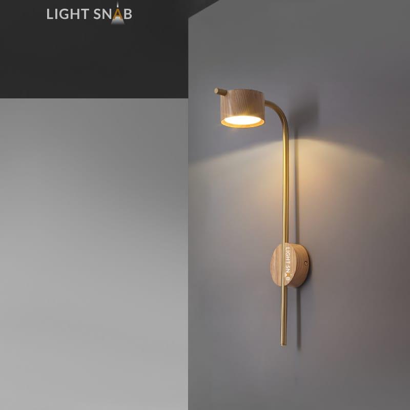Настенный светодиодный светильник Patsy размер S светлое дерево