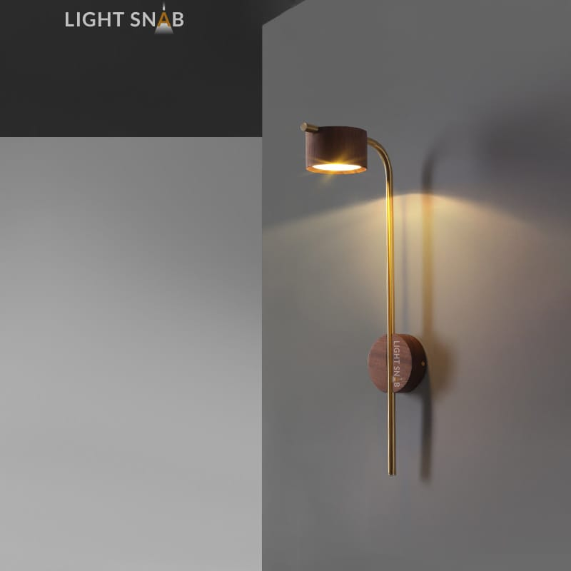 Настенный светодиодный светильник Patsy размер S темное дерево