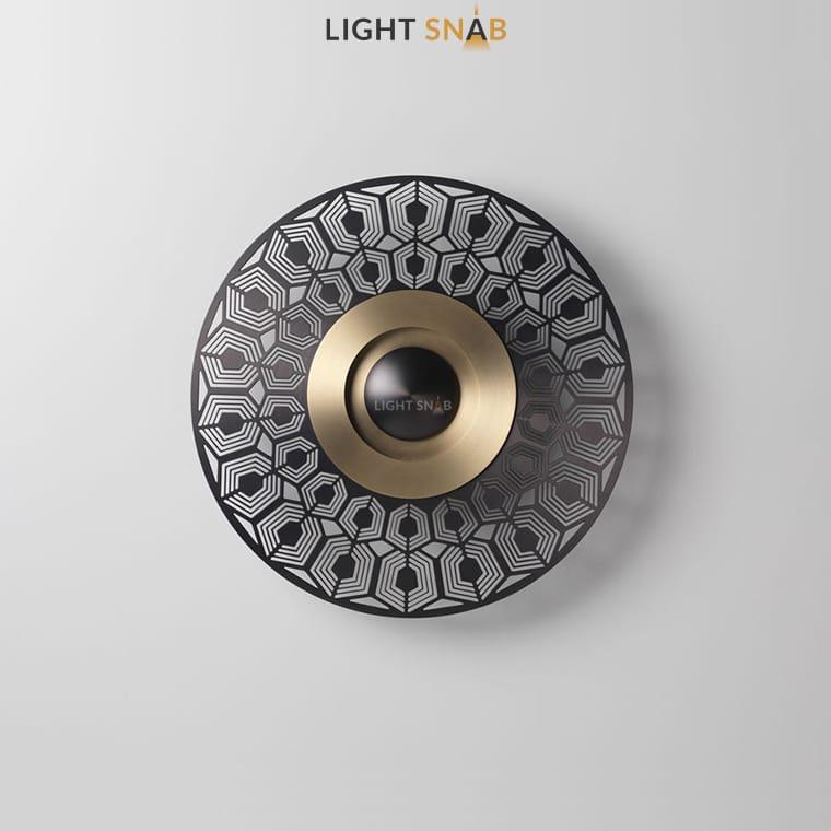 Дизайнерский настенный светильник Planchet модель A материал латунь