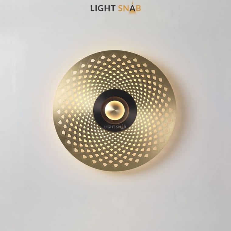 Дизайнерский настенный светильник Planchet модель B цвет латунь