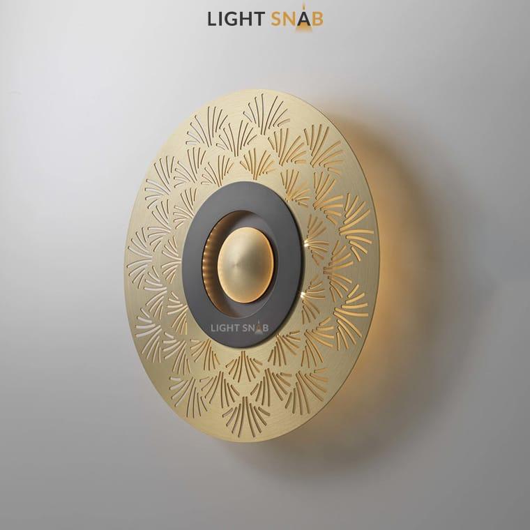 Дизайнерский настенный светильник Planchet модель C материал латунь