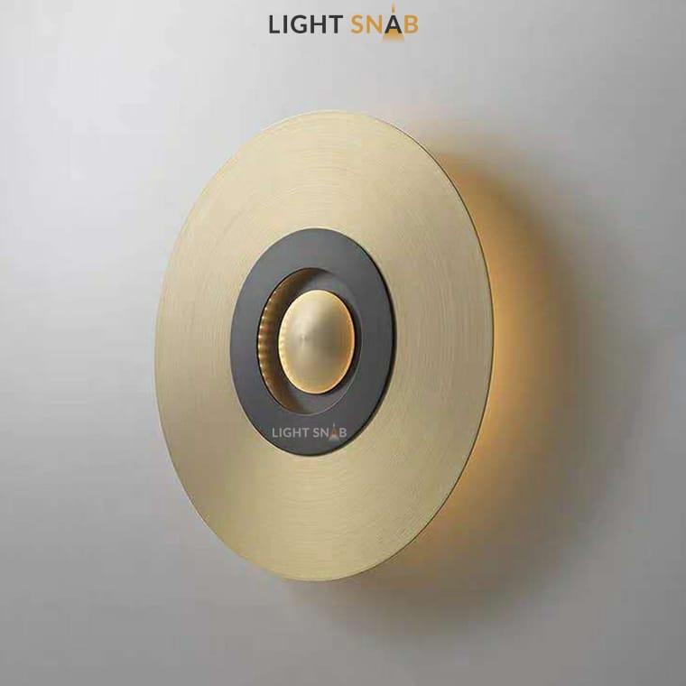 Дизайнерский настенный светильник Planchet модель D материал латунь