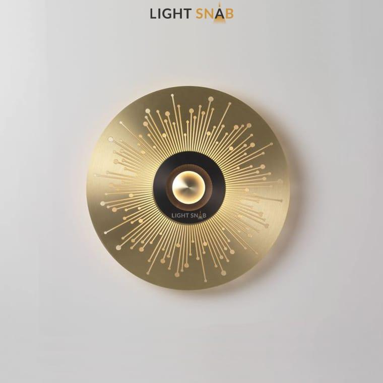 Дизайнерский настенный светильник Planchet модель E цвет латунь