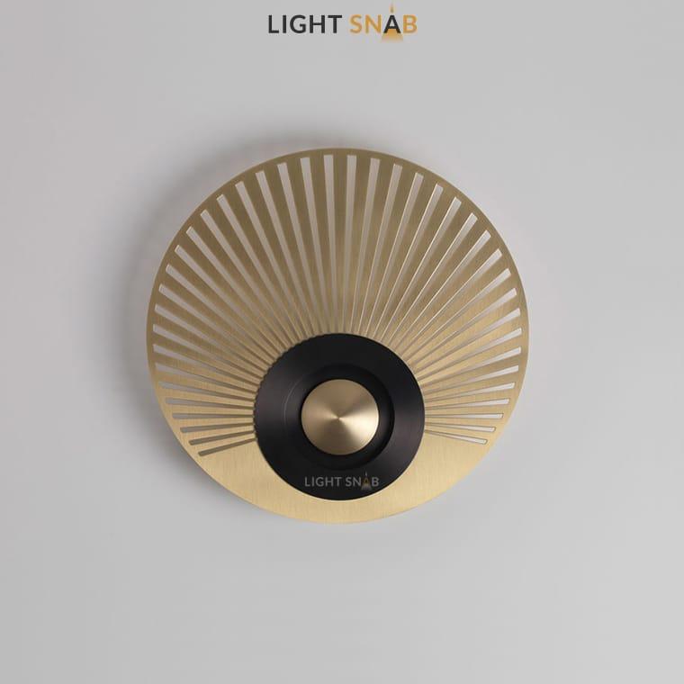 Дизайнерский настенный светильник Planchet модель F цвет латунь