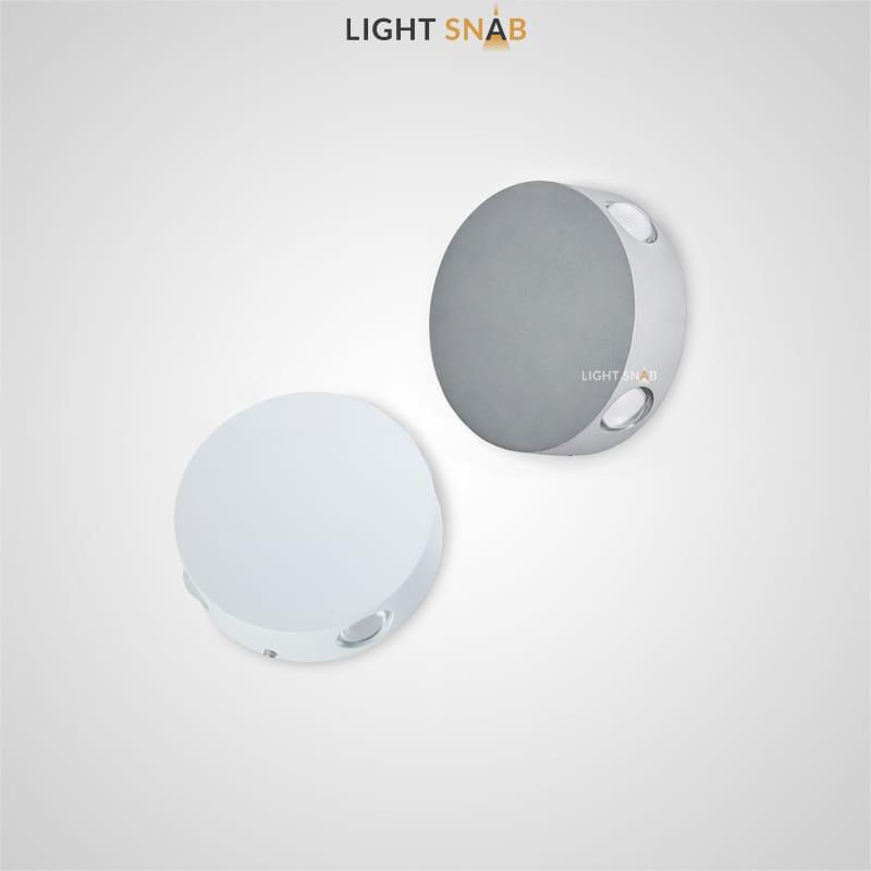 Настенный светодиодный светильник Port круглой формы с четырьмя источниками света по высоте корпуса