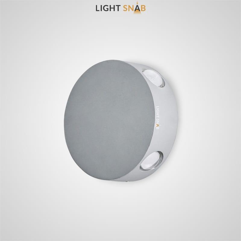 Настенный светодиодный светильник Port цвет серый
