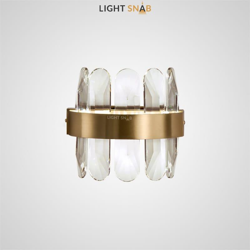 Настенный светодиодный светильник Princess с абажуром из округлых граненых пластин из натурального хрусталя